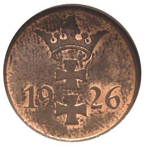 1 fenig 1926, Berlin, Parchimowicz 53 b, moneta w pudeł...