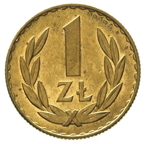 1 złoty 1949, na rewersie wklęsły napis PRÓBA, Parchimo...