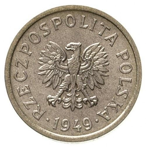 10 groszy 1949, na rewersie wklęsły napis PRÓBA, Parchi...