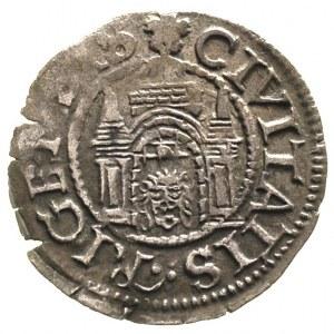 szeląg 1572, Ryga, Neumann 423, patyna
