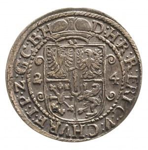 ort 1624, Królewiec, Neumann 10.101, Bahr. 1448, ładnie...