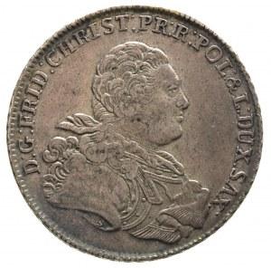 talar 1763, Lipsk, litera S na ramieniu króla, litery I...
