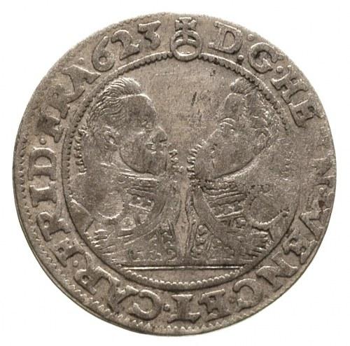 24 krajcary 1623, Oleśnica, litery B - Z po bokach tarc...