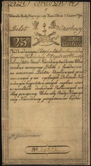 25 złotych 8.06.1794, seria C, Miłczak A3, Lucow 26 R1,...