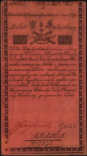 100 złotych 8.06.1794, seria B, Miłczak A5, Lucow 34 R4...