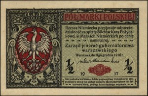 1/2 marki polskiej 9.12.1916, \jenerał, seria A