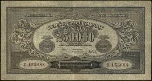 250.000 marek polskich 25.04.1923, seria D, Miłczak 34a...