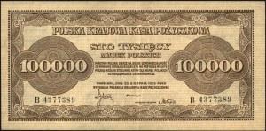 100.000 marek polskich 30.08.1923, seria B, Miłczak 35,...