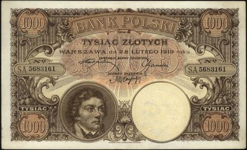 1.000 złotych 28.02.1919, Miłczak 55a, Lucow 599 R5