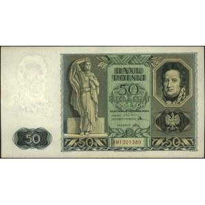 50 złotych 11.11.1936, Dąbrowski, seria AM 1201380, Mił...