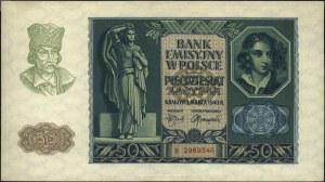 50 złotych 1.03.1940, seria B, Miłczak 96