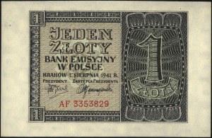 10 (seria J), 20 (seria K) złotych 1.03.1940 oraz 1 (se...