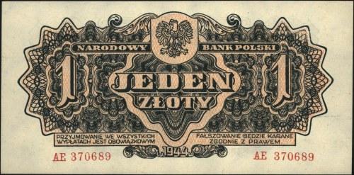 1 złoty 1944, \obowiązkowym, seria AE