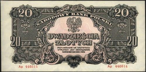 20 złotych 1944, \obowiązkowe, seria Ap