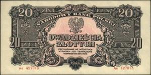 20 złotych 1944, \obowiązkowe, seria As