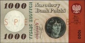 1.000 złotych 29.10.1965, SPECIMEN, seria A 0000000, Mi...