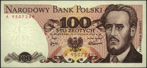10 złotych 1.06.1982 seria A 0004242, 100 złotych 15.01...