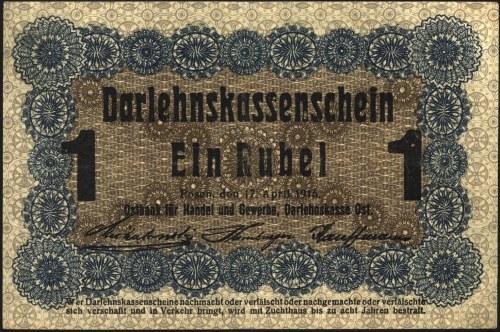 1 rubel 17.04.1916, Poznań, Miłczak P3c