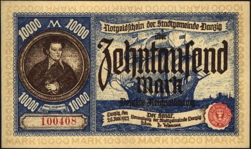 10.000 marek 26.06.1923, Miłczak G8, pięknie zachowane