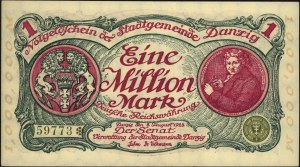 1.000.000 marek 8.08.1923, numeracja 5-cyfrowa, Miłczak...