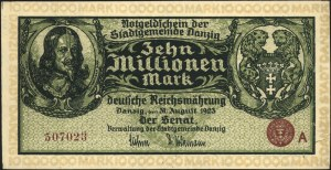 10.000.000 marek 31.08.1923, seria A, Miłczak G13b