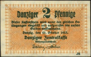 2 fenigi 22.10.1923, Miłczak G21, bardzo ładnie zachowa...