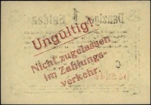 1 gulden 22.10.1923, seria C, na stronie odwrotnej nadr...