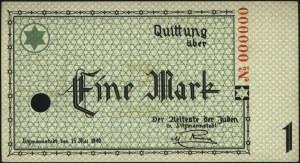 1 marka 15.05.1940, WZÓR, No 000000, perforowane, Miłcz...
