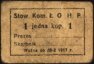 Łódź, zestaw bonów 1, 3 i 5 kopiejek emitowanych przez ...