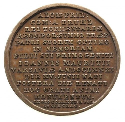 Narodziny Syna gen. Alojzego Fryderyka Brühla, medal au...