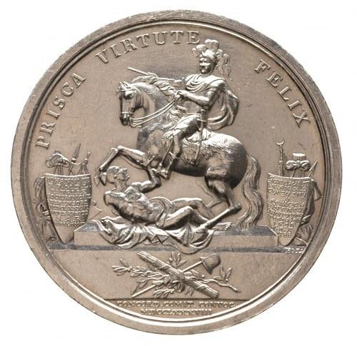 medal autorstwa D. Loosa wybity na zlecenie króla prusk...