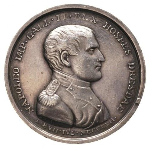 medal wybity z okazji pobytu Napoleona w Dreźnie w 1807...