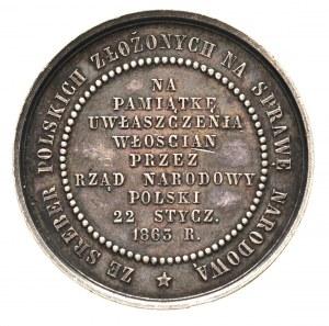 medal na pamiątkę uwłaszczenia włościan w 1863 roku, Aw...