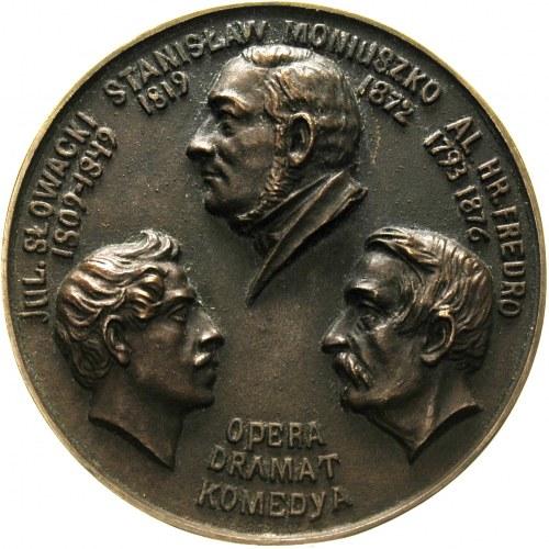 Wystawa Teatralna w Warszawie-medal z zakładu Braci Łop...