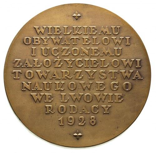 medal - Oswald Balzer 1928 r., Aw: Popiersie w lewo i n...