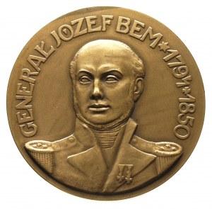 medal - Gen. Józef Bem 1928 r., Aw: Popiersie na wprost...
