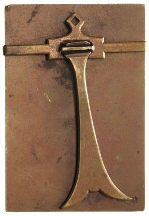 Józef Piłsudski, plakieta sygnowana J. Aumiller, 1930, ...