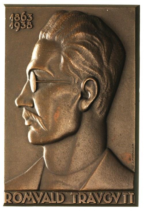 Romuald Traugutt, plakieta sygnowana J. Aumiller, 1938,...