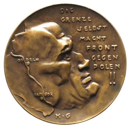 medal - plebiscyt 20.03.1921 na Górnym Śląsku, Aw: Głow...
