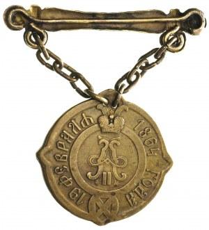 Aleksander II 1855-1881, odznaka sołtysa guberni warsza...