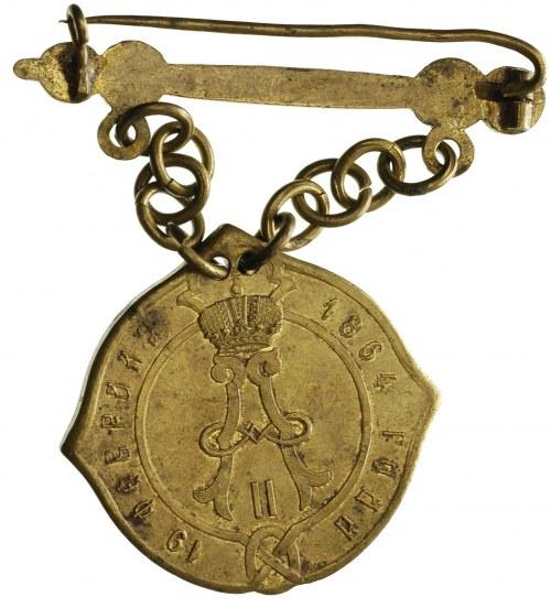 Aleksander II 1855-1881, odznaka sołtysa guberni kalisk...