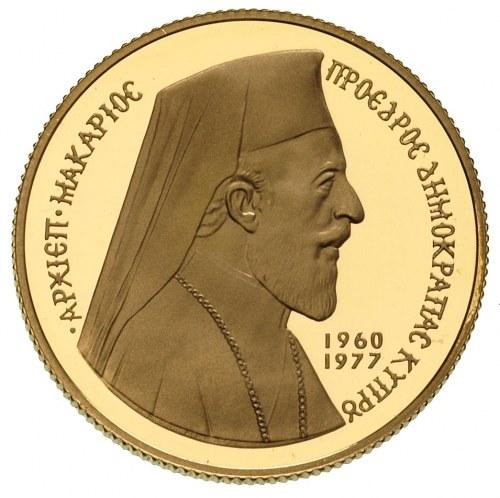 50 funtów 1977, złoto 16.13 g, Fr. 6, wybite stemplem l...