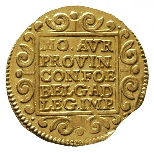 Utrecht, dwudukat 1654, złoto 6.94 g, Fr. 282, Delmonte...