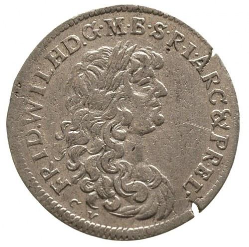 Fryderyk Wilhelm 1640-1688, szóstak 1674/CV, małe liter...