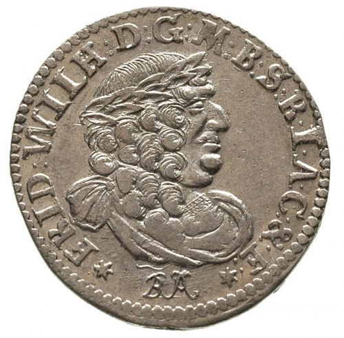 Fryderyk Wilhelm 1640-1688, szóstak 1686/BA, Królewiec,...