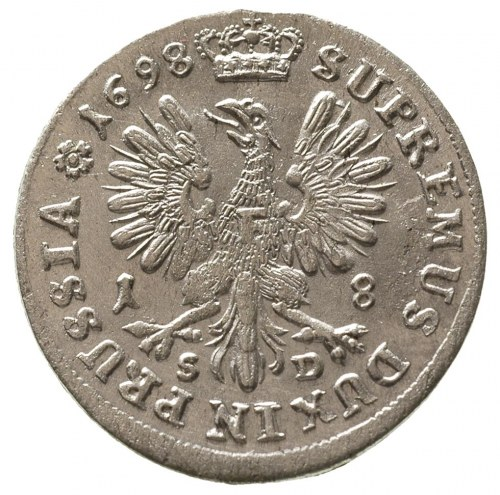 Fryderyk III 1688-1701-1713, ort 1698/SD, Królewiec, Ne...