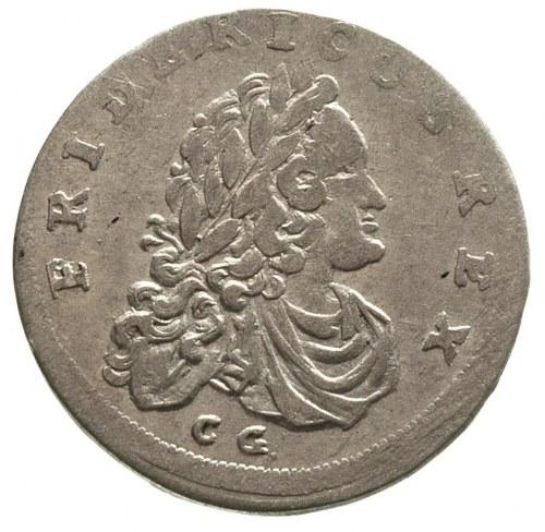 Fryderyk III 1688-1701-1713, szóstak 1709/C.G., Królewi...