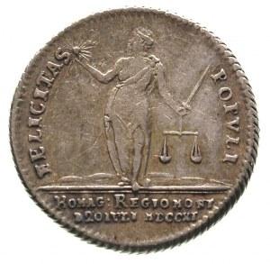 Fryderyk II Wielki 1740-1786, odbitka w srebrze dukata ...