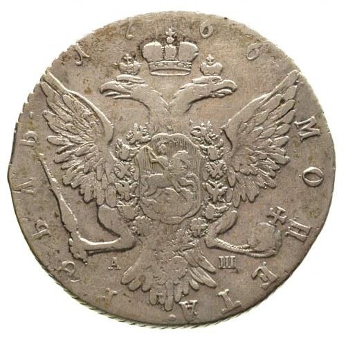 rubel 1766 / А-Ш, Petersburg, Diakov 132