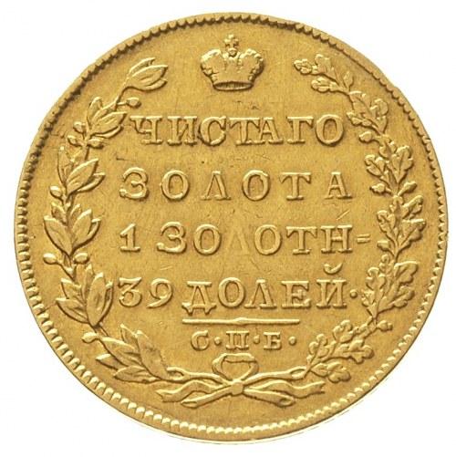 5 rubli 1829 / П-Д, Petersburg, złoto 6.43 g, Bitkin 4